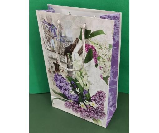 Бумажный пакет подарочный Средний 17/26/8 (артSV-190) (12 шт)