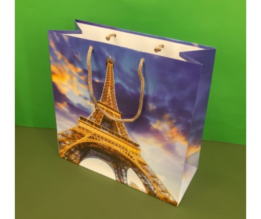 Пакет бумажный подарочный квадратный ы 23*24*10(артKV-122) (12 шт)