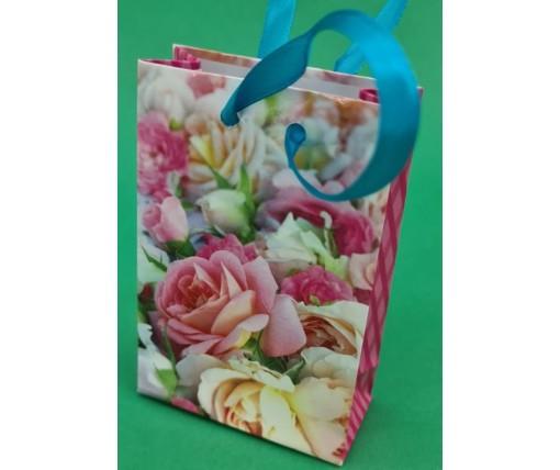 Пакет бумажный подарочный  МИНИ 8*12*3.5 арт66 (12 шт)