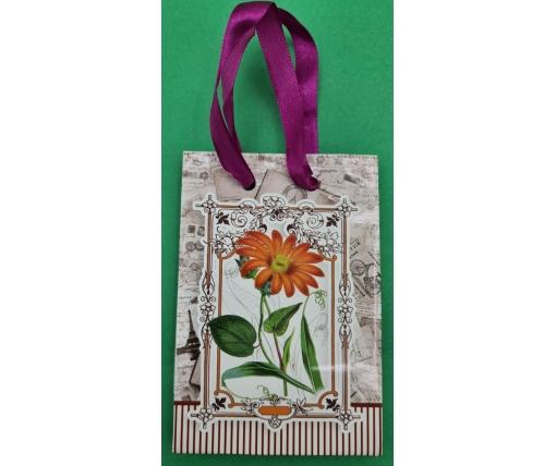Пакет бумажный подарочный  МИНИ 8*12*3.5 арт67 (12 шт)