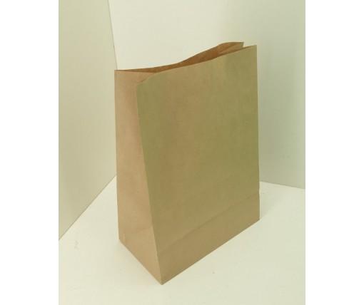 Пакет с дном бумажный 35*25*14 коричневый №20 (100 шт)