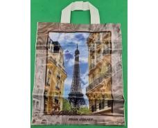 "Пакет с петлевой ручкой ср п ламинир.""Париж"" (30х35+3) 80мк КВС (50 шт)"
