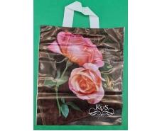 """Пакет с петлевой ручкой ср п ламинир.""""Розы"""" (30х35+3) 80мк КВС (50 шт)"""