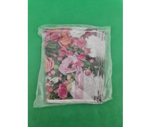 """Пакет ламинированный с петлевой ручкой маленький """"Розовый"""" 2706  (23х29) 50мк ДПА (50 шт)"""