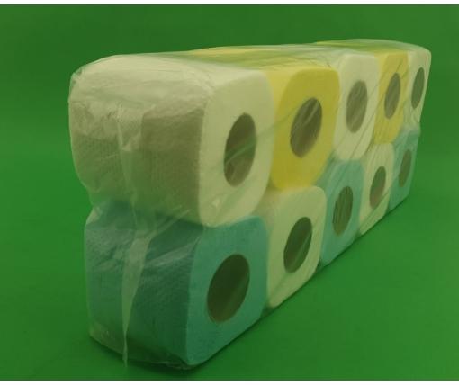 Бумага туалетная  цветная  (а10) Примьер  (1 пачка)