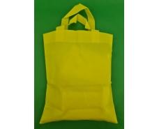 Сумка желтая (спанбонд) 33х38 см ручка 16 см (1 шт)
