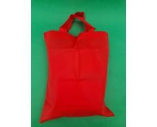 Сумка красная (спанбонд) 33х38 см ручка 16 см (1 шт)
