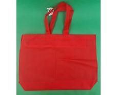 Сумка на молнии красный (спанбонд) 38х53 см (1 шт)