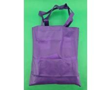 Сумка фиолетовая (спанбонд) 37х41 см ручка 36 см (1 шт)