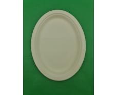 Тарелка бумажная  260*200 белая (50 шт)