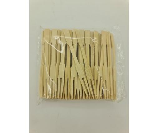 Вилочка бамбуковые  9см,100 шт (1 пачка)