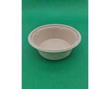 Тарелка бумажная круглая глубокая 400 ml  (бежевая) (50 шт)