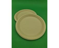 Тарелка бумажная круглая 220мм бежевая   (50 шт)