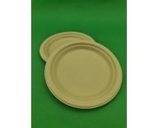 Тарелка бумажная круглая 160мм бежевая   (50 шт)