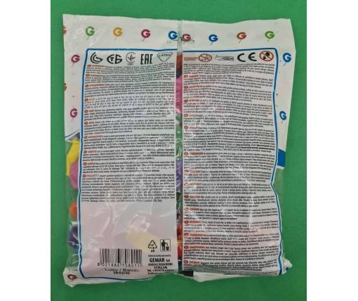"""Воздушные шары ассорти пастель 7"""" (19 см) 100 шт (1 пач)"""