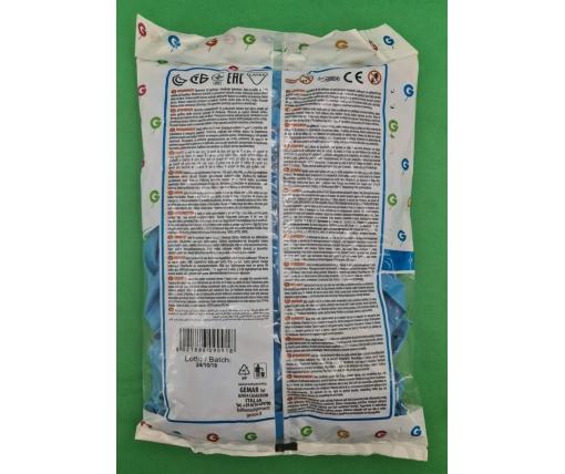 """Воздушные шары пастель светло голубой 10"""" (25 см) Gemar 100 шт (1 пач)"""