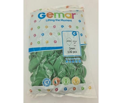 "Надувные шары пастель зеленый 10"" (25 см) Gemar 100 шт (1 пач)"