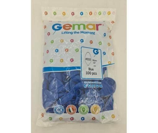 """Воздушные шарики пастель синий 10"""" (25 см) Gemar 100 шт (1 пачка)"""