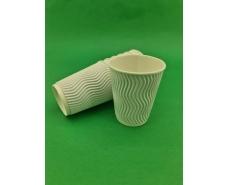 """Стакан бумажный для кофе и чая 250мл """"Гофра"""" """"Белый"""" (20 шт)"""