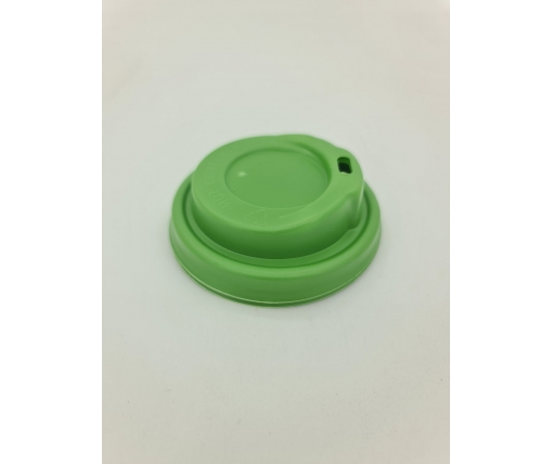 Крышка зеленая на стакан  бумажный Ф75 (гар) Маєстро (50 шт)