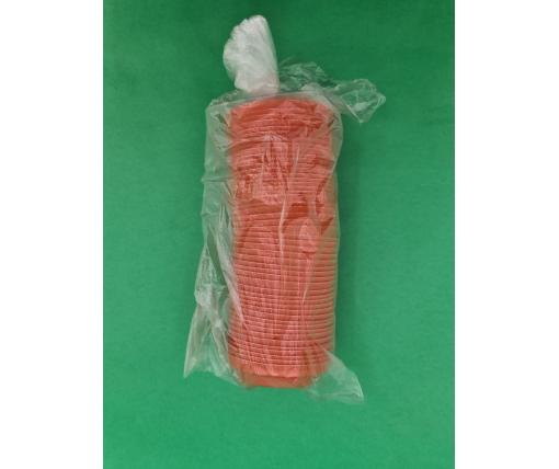 Крышка для стакана  бумажный  Ф75 (гар) оранжевая Маэстро (50 шт)