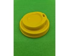 Крышка для стакана  бумажный  Ф75 (гар) желтая Маэстро (50 шт)