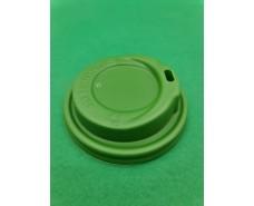 Крышка на стакан  бумажный  Ф80 (гар) зеленая Маэстро (50 шт)