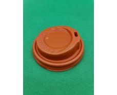 Крышка на стакан  бумажный  Ф80 (гар) оранжевая Маэстро (50 шт)