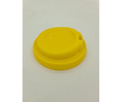 Крышка под стакан  бумажный  Ф90 (гар) желтая Маэстро (50 шт)