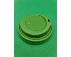 Крышка под стакан  бумажный  Ф90 (гар) зеленая Маэстро (50 шт)