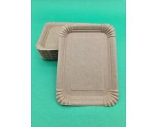 Тарелка бумажная прямоугольная 210*150 мм Крафт   50шт (1 пач)