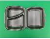ᐉЛанч-бокс из вспененного полистирола с крышкой 2-х секционный (236*179*73*) белый (Р2662\2865) 200штук в мешке