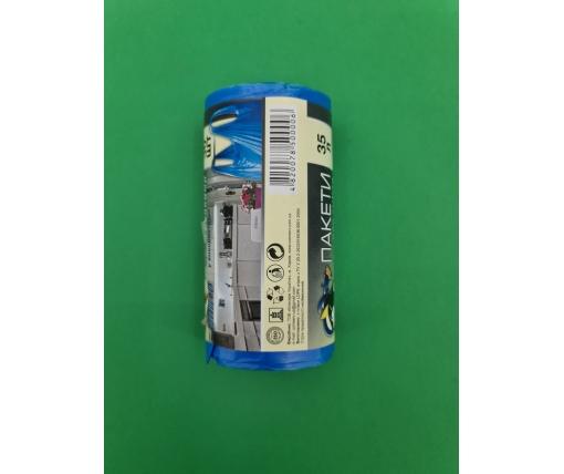 Пакет для мусора 35литров (30шт) КОК с ручками  (1 рул)