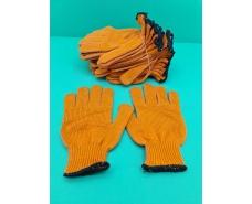 """Хозяйственные перчатки плотные оранжевая """"Work"""" (7кл/5н) (10 пар)"""