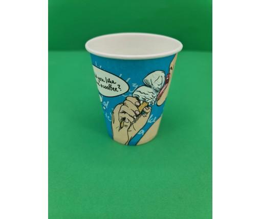 Бумажный стакан 175мл  Не хотите ли кофе?  Маэстро (50 шт)