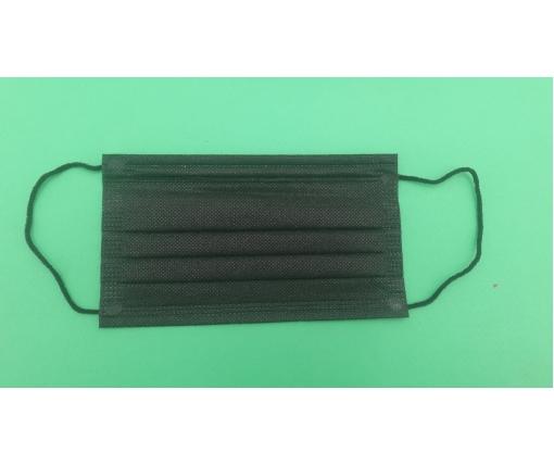 Одноразовая маска  швеная (50шт) Цех Черная (1 пач)