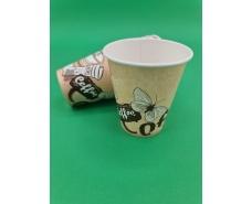 "Стакан для напитков 175мл ""COFFE БАБОЧКИ"" Маэстро (50 шт)"