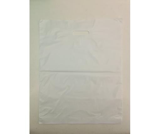 Пакет с прорезной ручкой (40*50+3) БЕЛЫЙ (100 шт)