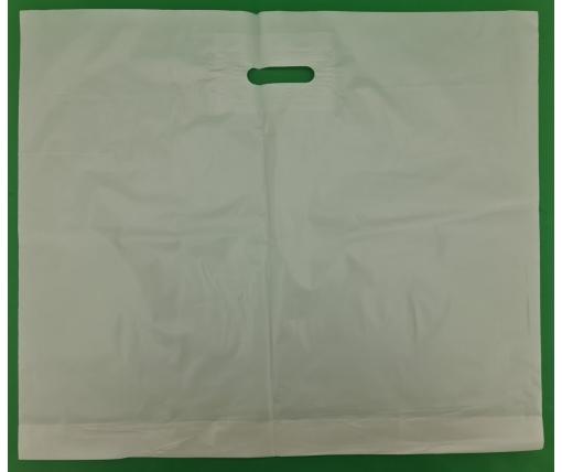 Пакет с прорезной ручкой (60*50+3) БЕЛЫЙ (100 шт)