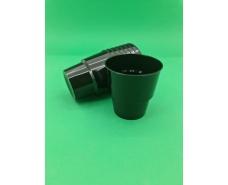 Стакан стеклоподобный (без ножки) 200 гр черный  36Х25 (25 шт)