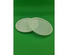 Тарелка одноразовая диаметр 165мм  белая  Эконом PGU (100 шт)