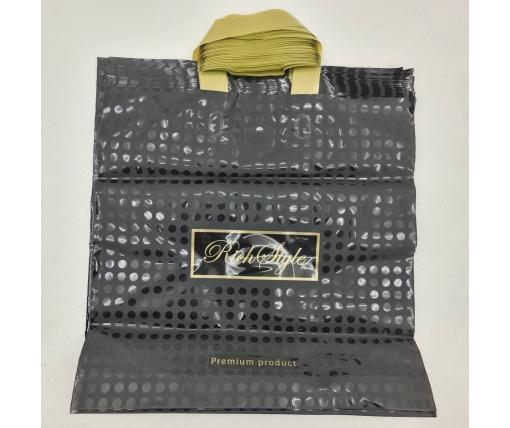 пакет с петлевой ручкой 40*40 Горох черный (25 шт)