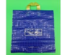 пакет с петлевой ручкой 40*40 Горох синий (25 шт)