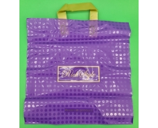 пакет с петлевой ручкой 40*40 Горох фиолет (25 шт)