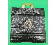 пакет с петлевой ручкой 40*40 Лилия премиум черный (25 шт)
