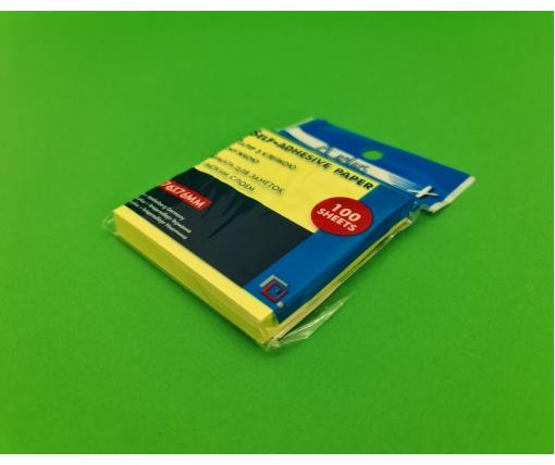 Блок для записей .проклеенный. желт. размер 76*76мм 100листов (1 пачка)