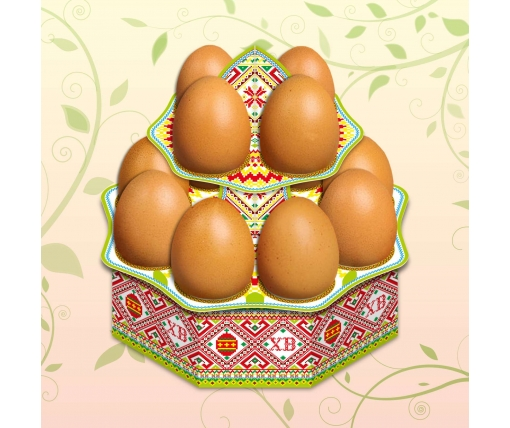 """Декоративная подставка для яиц №12.1 """"Традиционная"""" (12 яиц) высокая (1 шт)"""