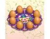 """Декоративная подставка для яиц №8 """"Жостово"""" (8 яиц) тарелка (1 шт)"""