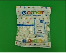 """Воздушные шарики пастель белый  5"""" (13 см) 100 шт Gemar (1 пач)"""