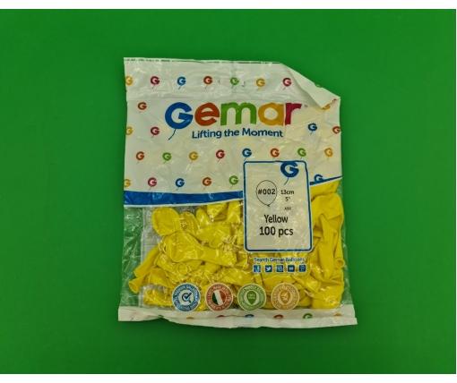 """Воздушные шарики пастель желтый  5"""" (13 см) 100 шт Gemar (1 пач)"""